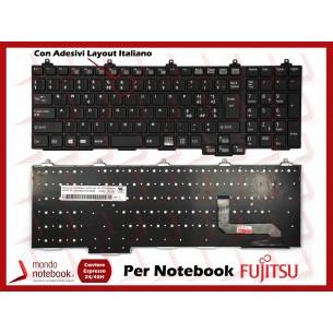 Tastiera Notebook Fujitsu Lifebook A572 A574 A743/G con ADESIVI LAYOUT ITALIANO