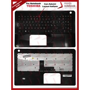 Tastiera con Top Case TOSHIBA Satellite L50 L50-B L50D-B (Nera) con ADESIVI LAYOUT...