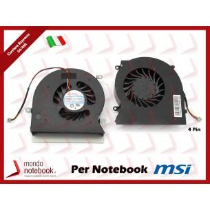 Ventola Fan CPU MSI GT62 GT62VR 16L1 16L2 16L3 S5 S6